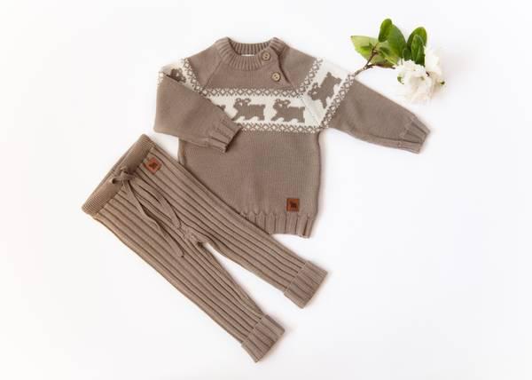 Bilde av Kardemomme ullsett med genser Lajny og ribbebukse Kenty